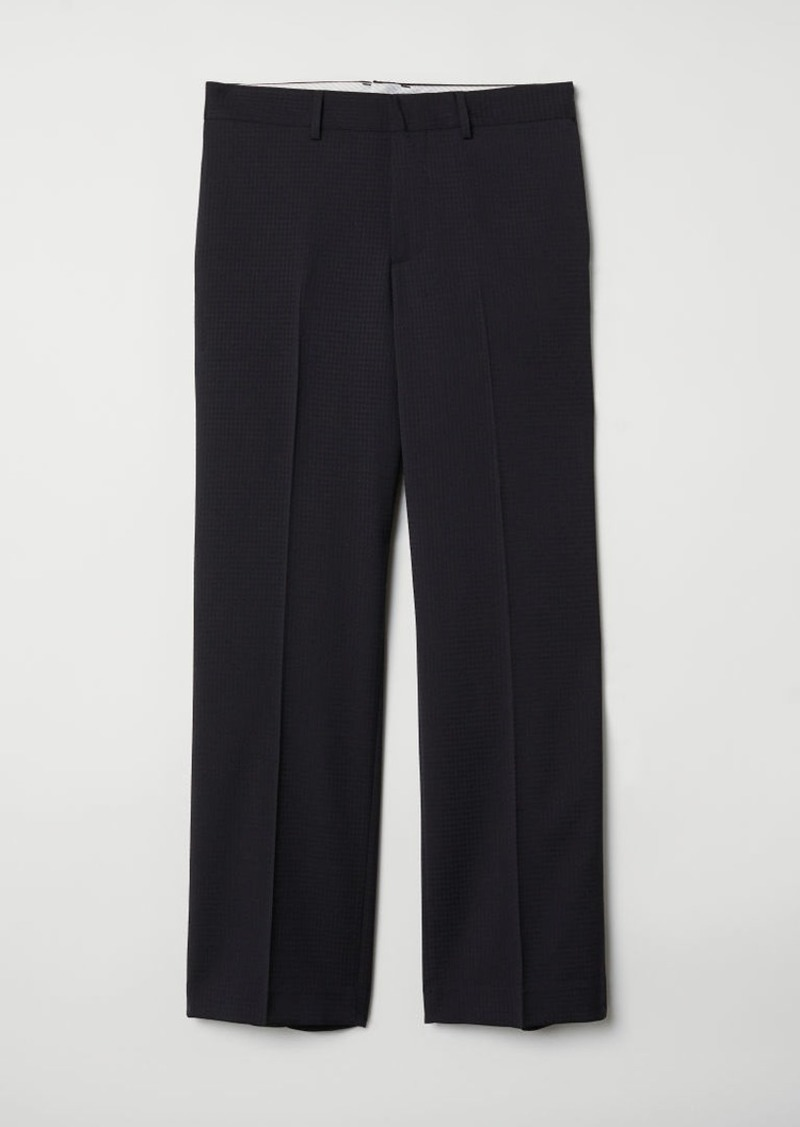 H&M H & M - Relaxed Fit Wool Suit Pants - Black
