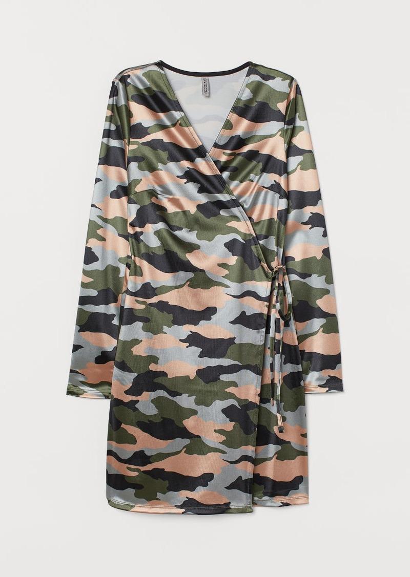 H&M H & M - Wrap Dress - Green