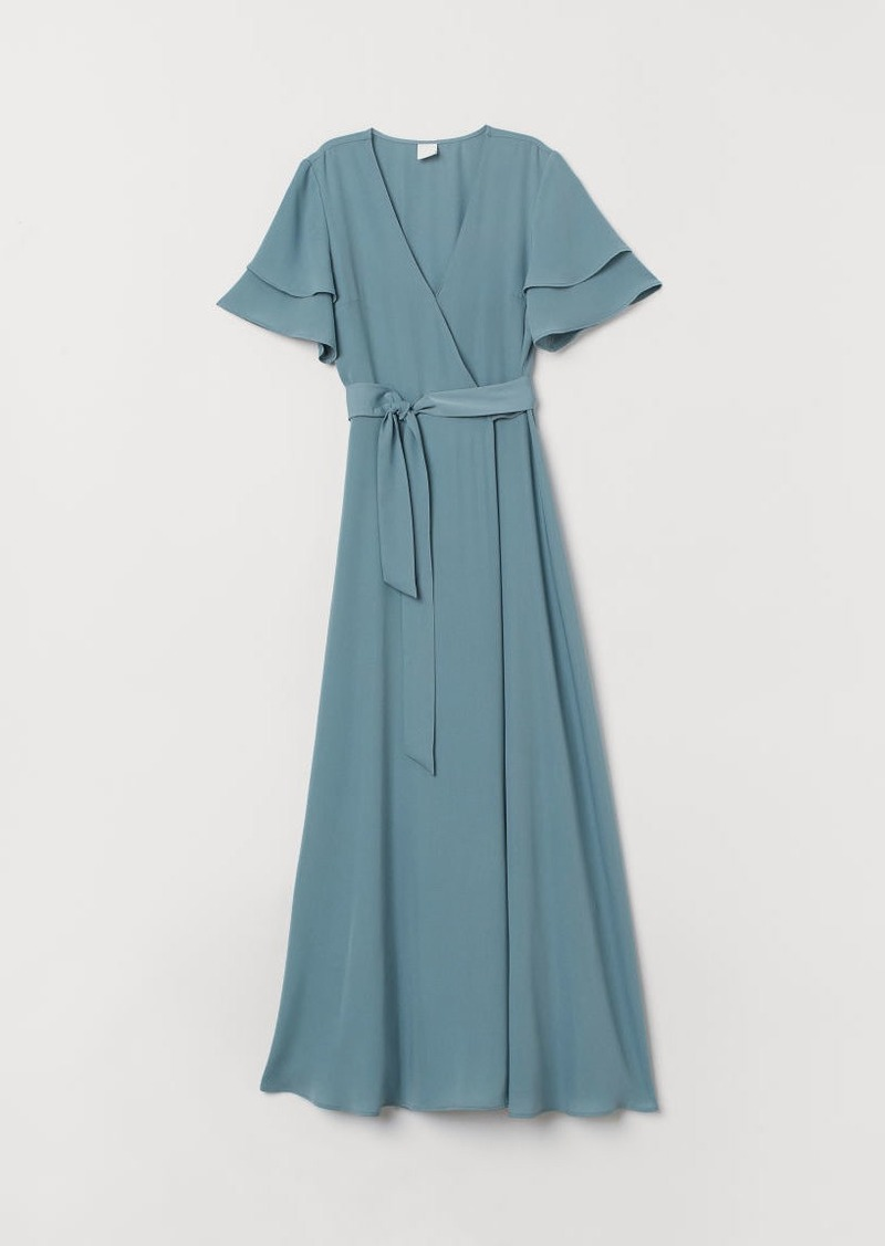 H&M H & M - Wrap Dress - Turquoise