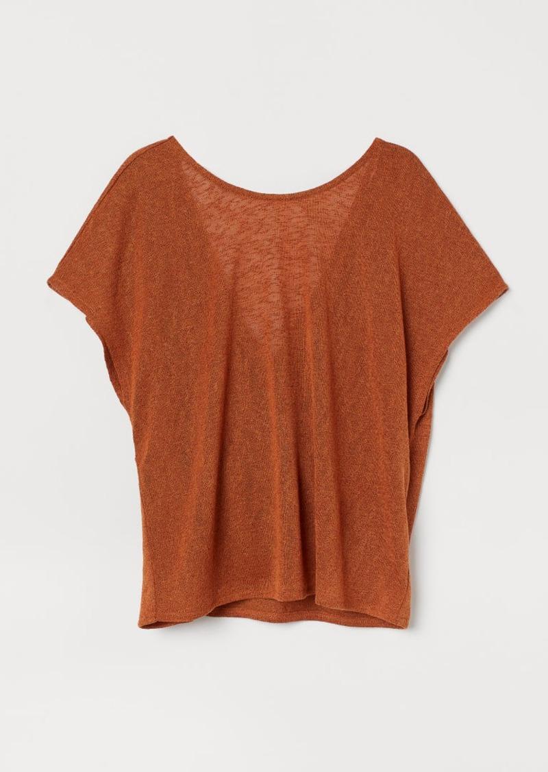 H&M H & M - Wrapover-back Top - Orange