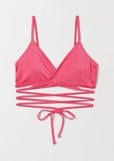 H&M H & M - Wrapover Bikini Top - Pink