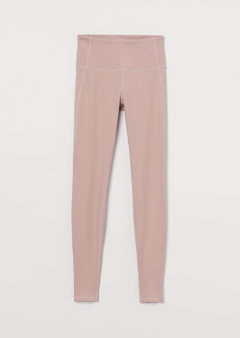 H&M H & M - Yoga Tights High Waist - Pink