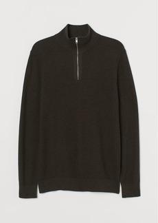 H&M H & M - Zip-top Sweater - Brown