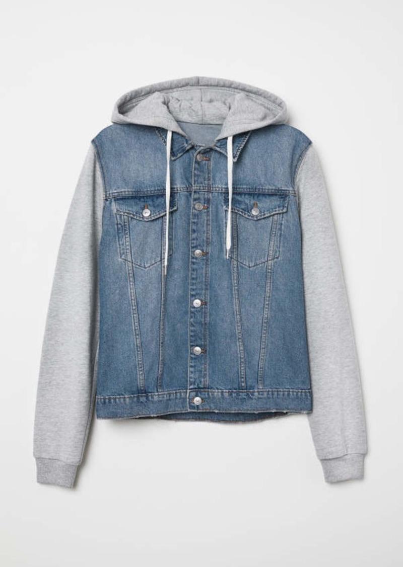 promo code discount for sale new style & luxury H & M - Hooded Denim Jacket - Denim blue/gray - Men