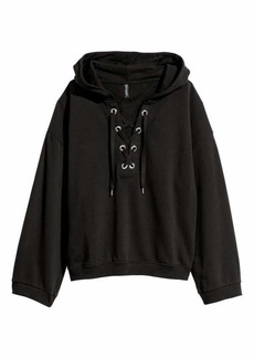 H&M Hooded Sweatshirt with Lacing