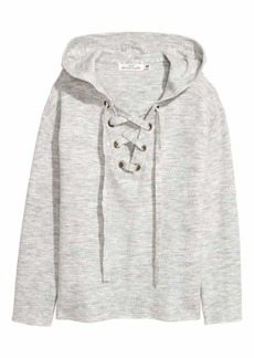 H&M Hooded Top with Lacing