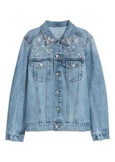 H&M Denim Jacket with Rhinestones