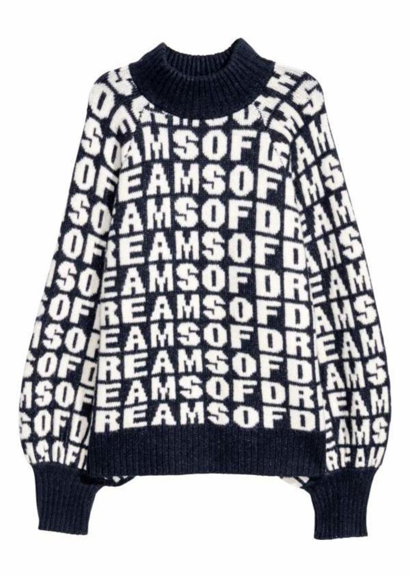087ba0926 H & M - Jacquard-knit Sweater - Black/white patterned - Women