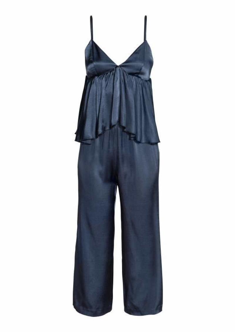 7c89ac1f35c SALE! H M H   M - Jumpsuit with Flounce - Dark blue - Women