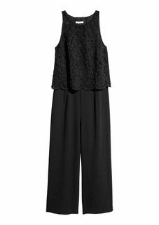 H&M H & M - Jumpsuit with Lace - Black - Women