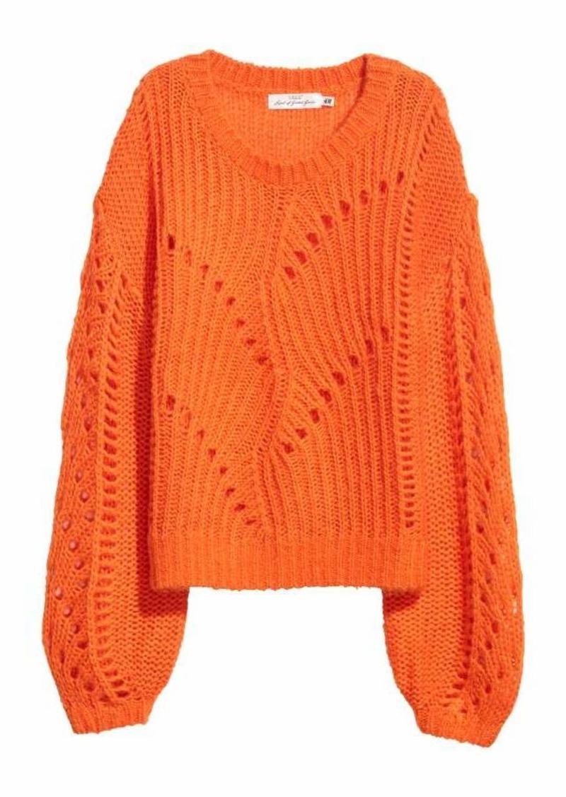5f16d3d746af8 H M Knit Mohair-blend Sweater Now  14.99
