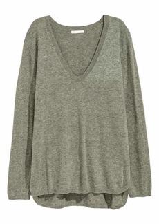 H&M H & M - Knit Sweater - Light gray - Women