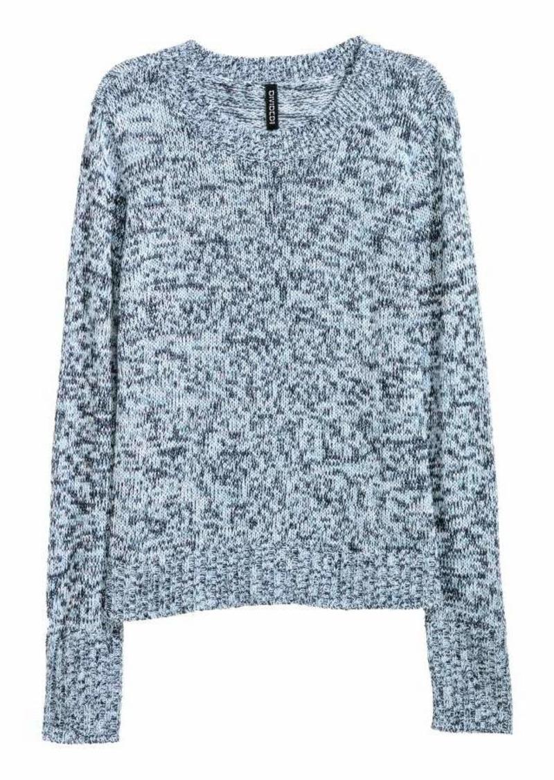 b68b056f3 SALE! H M H   M - Knit Sweater - Blue melange - Women