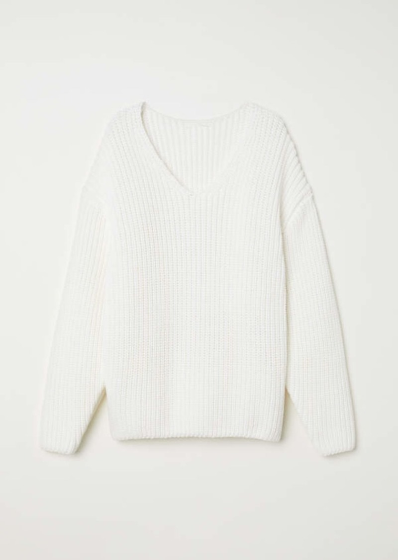 88a0fb9423 H M H   M - Knit Sweater - White - Women
