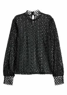H&M H & M - Lace Blouse - Black - Women