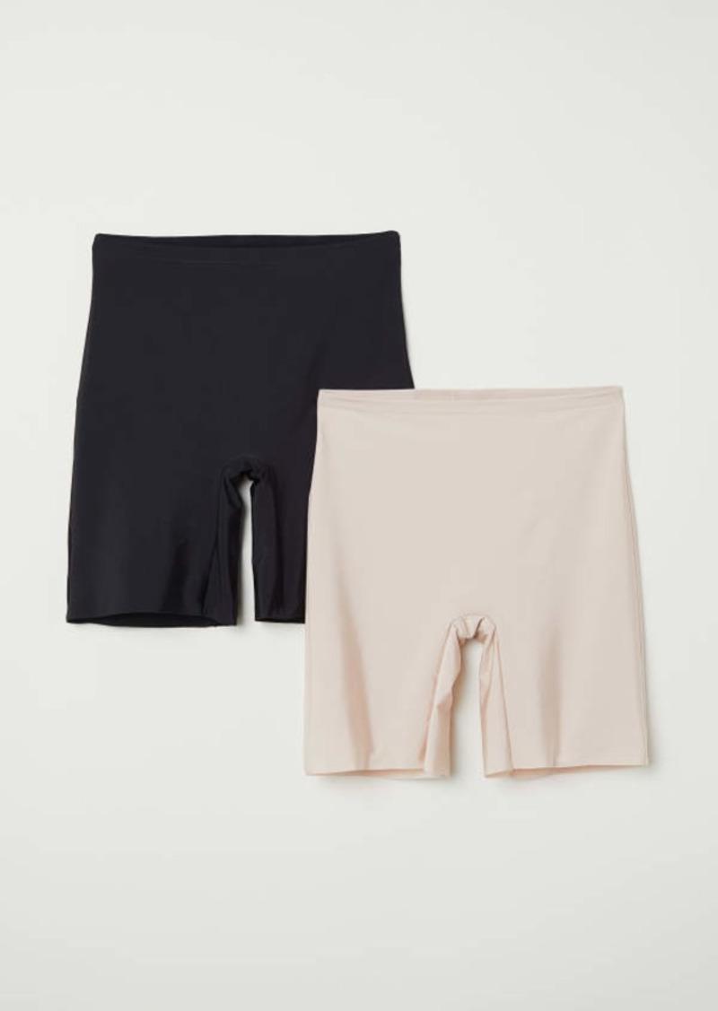 H&M H & M - H & M+ 2-pack Light Shape Shorts - Black/Chai - Women