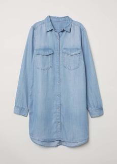 H&M H & M - Long Shirt - Light denim blue - Women