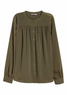 H&M H & M - Long-sleeved Blouse - Khaki green - Women