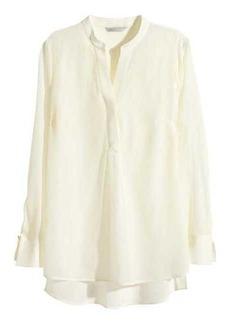 H&M Long-sleeved Silk Blouse