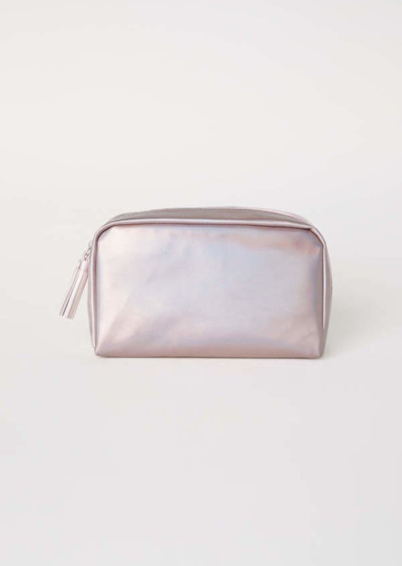 Makeup Bag Metallic Pink Women