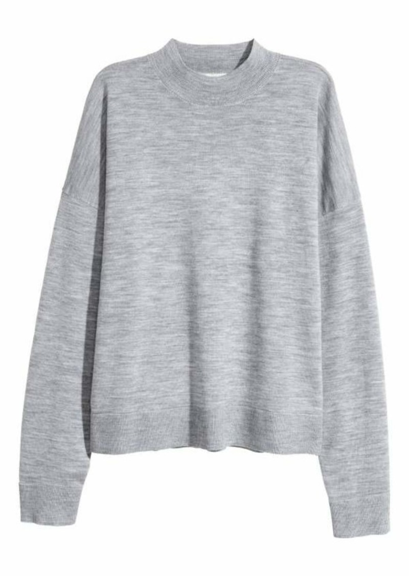 2a6d133b73d1 H M H   M - Merino Wool Sweater - Gray - Women