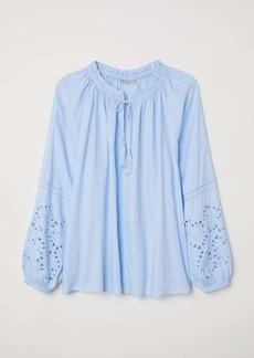 H&M H & M - H & M+ Modal-blend Blouse - Light blue - Women