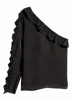 H&M H & M - One-shoulder Blouse - Black - Women