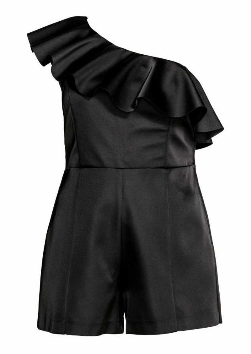 H&M H & M - H & M+ One-shoulder Jumpsuit - Black - Women
