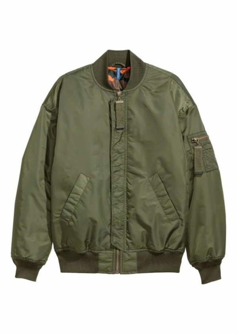 order order online online here H & M - Oversized Bomber Jacket - Dark green - Men