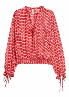 H&M H & M - Patterned Blouse - Red/floral - Women