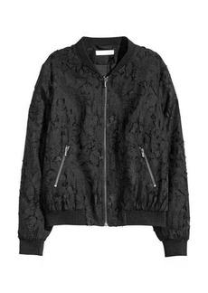 H&M Patterned Bomber Jacket