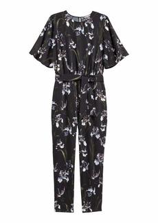 H&M H & M - H & M+ Patterned Jumpsuit - Black/floral - Women