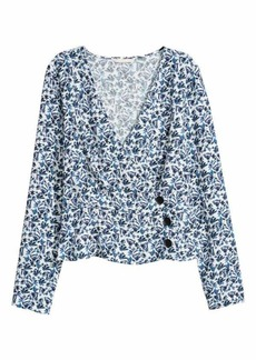 H&M Patterned Wrapover Blouse