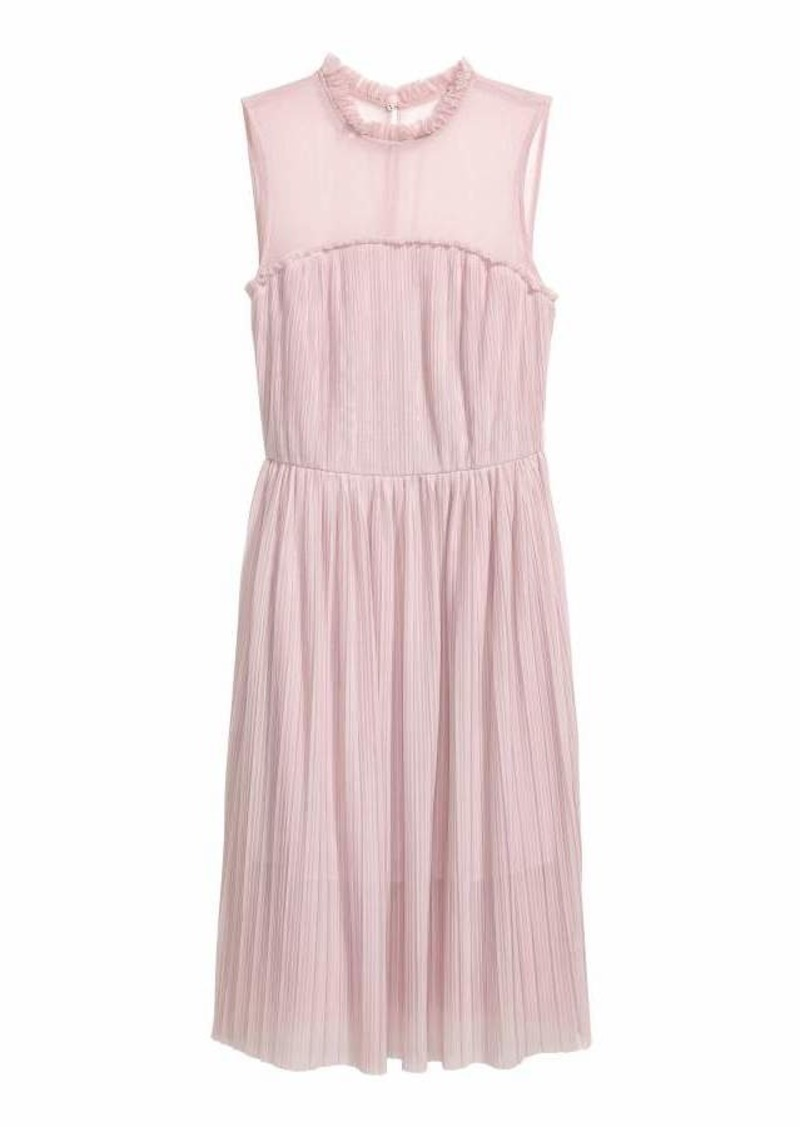 H Amp M Pleated Mesh Dress Dresses Shop It To Me