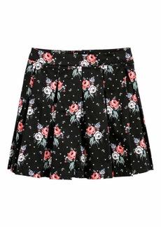 H&M H & M - Pleated Skirt - Black/floral - Women