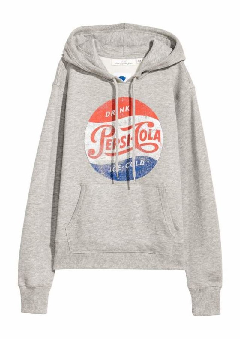 d4ce90bb19f44 H&M Printed Hooded Sweatshirt | Outerwear