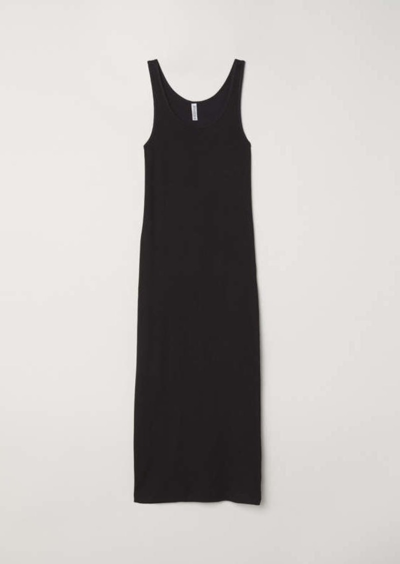 d2402122c81 H M H   M - Ribbed Dress - Black - Women