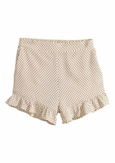 H&M H & M - Ruffle-trimmed Shorts - Light beige/patterned - Women