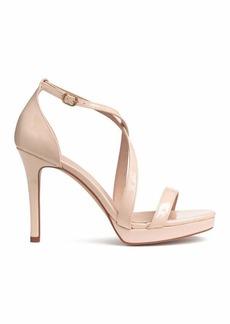 H&M H & M - Sandals - Light beige/patent - Women