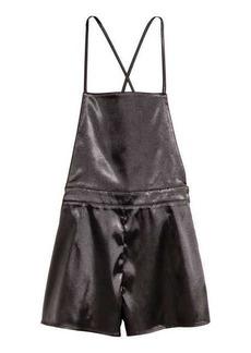 H&M Satin Bib-overall Shorts