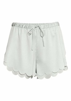 H&M Scalloped-hem Shorts