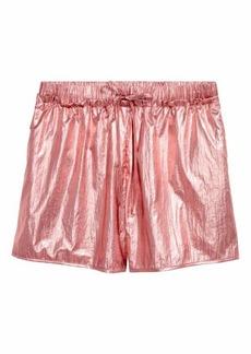 H&M Shimmering Metallic Shorts