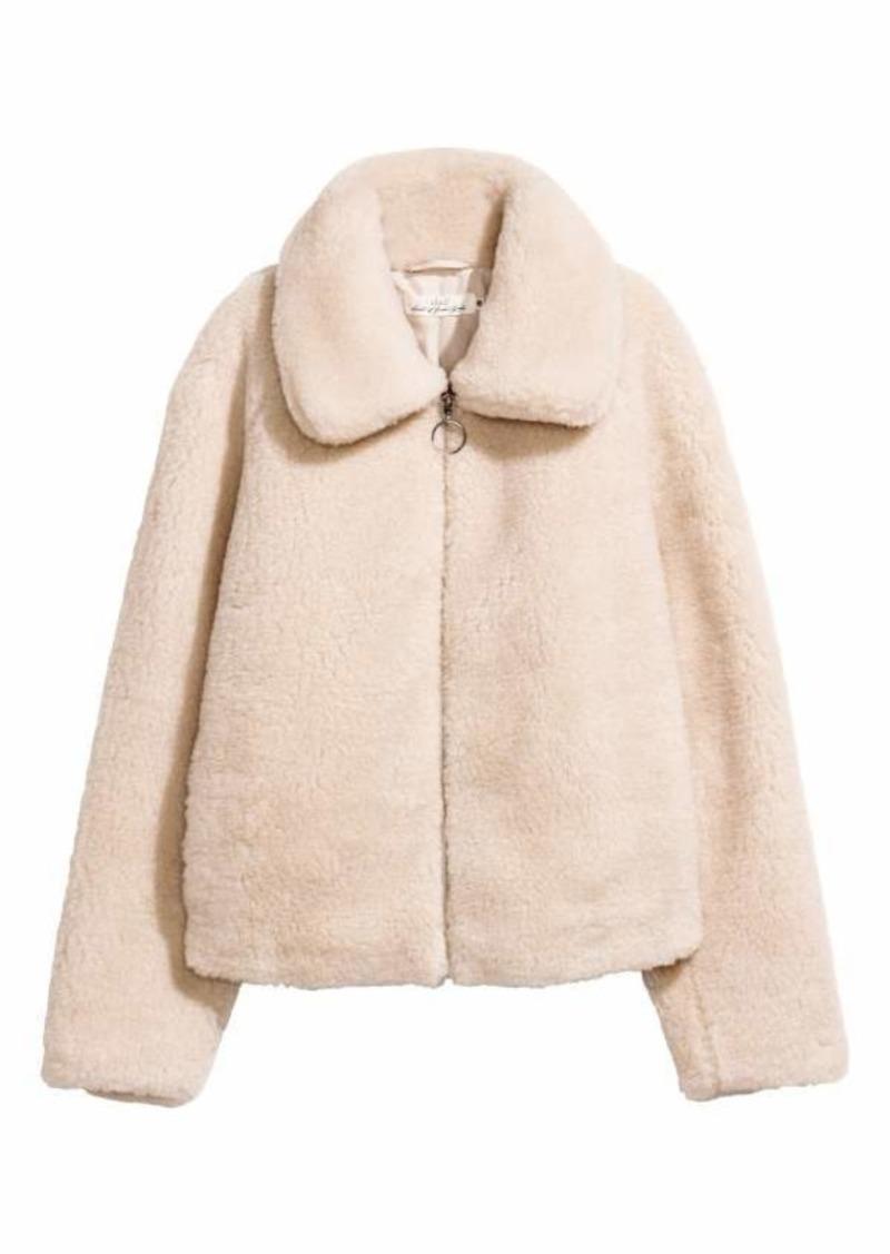 new authentic new concept wholesale sales H&M Short Pile Jacket | Outerwear