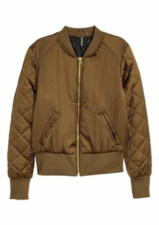 H&M Short Satin Bomber Jacket