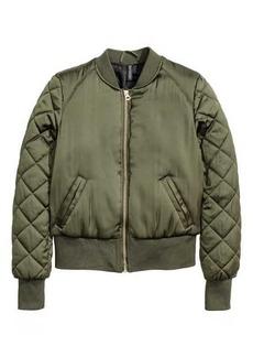 H&M Short Satin Bomber Jacket