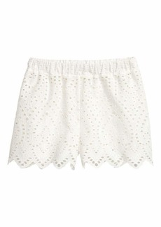 H&M Shorts with Eyelet Embroidery