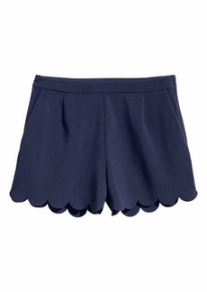 H&M Shorts with Scalloped Hems