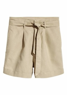 H&M Shorts with Tie Belt