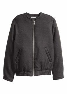 H&M Silk-blend Bomber Jacket