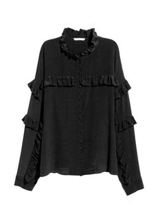 H&M Silk Ruffled Blouse